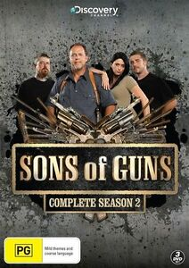 Sons Of Guns : Season 2 (DVD, 2012, 3-Disc Set)  New Sealed Region 4