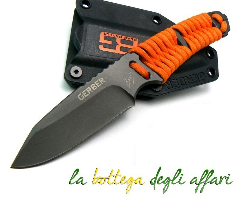 Coltello softair scout  sopravvivenza Bear Grylls paracord Fixed Blade Knife