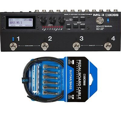 New Boss MS-3 Multi Effects Switcher Guitar Pedal w// BCK-6!