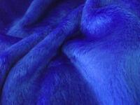 SHORT PLUSH Care Bear Faux Fur Fabric ROYAL BLUE
