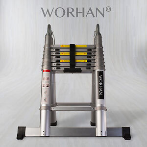 WORHAN® Telescopic Foldable Ladder Multi Purpose Extendable with Aluminum Rings