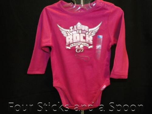 Baby Girl/'s The Children/'s Place Love to Rock Hot Pink One Piece 3-6 M or 6-9 M