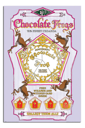 Maxi Size 36 x 24 Inch Harry Potter Chocolate Frogs Poster New