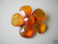 Facettierte Honig Natur Bernstein Brosche Amber 4,4 g Genuine Amber