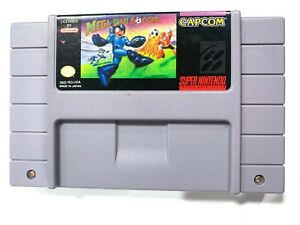 Mega-Man-Soccer-SUPER-NINTENDO-SNES-Game-Tested-Working-amp-Authentic