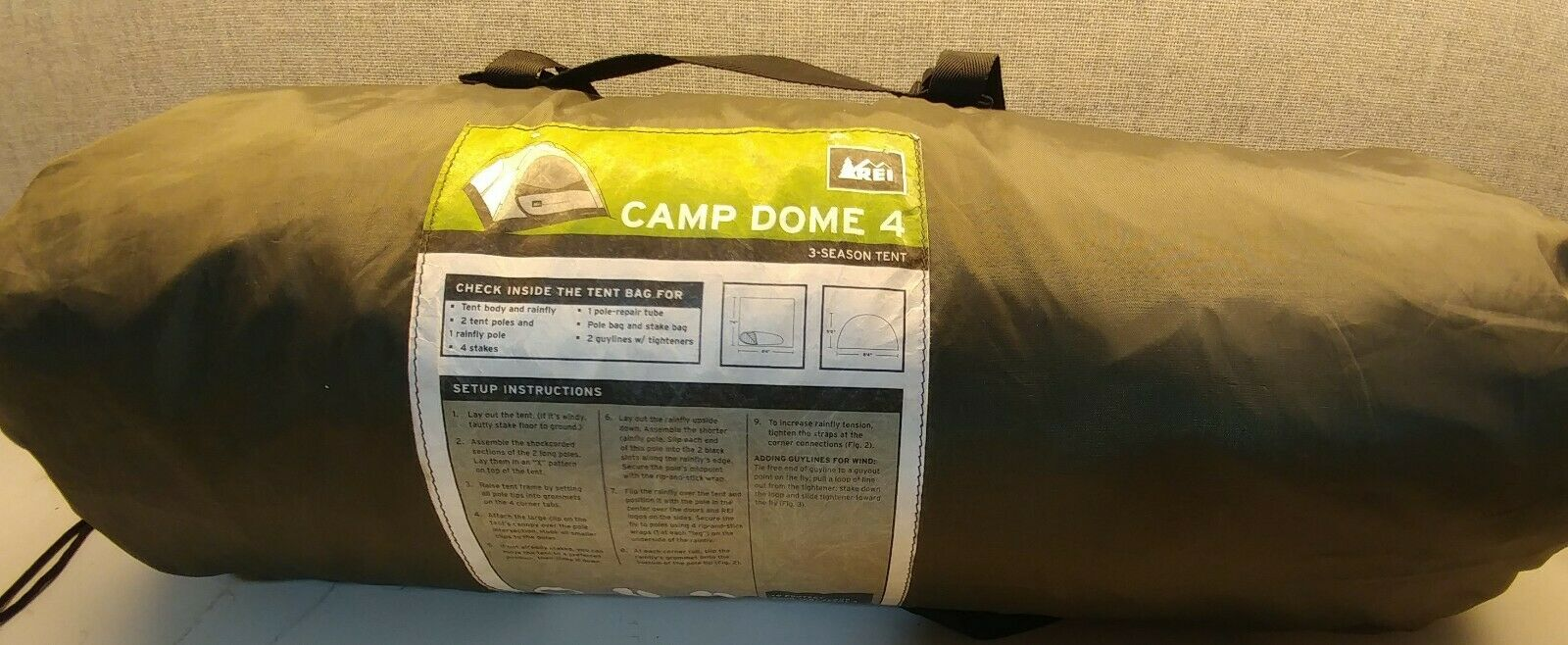 REI Camp Dome 4 Person Tent, 3 Seasons