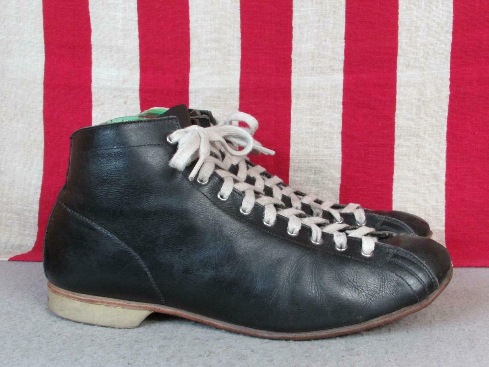 Vintage 1930s Black Leather High Top Athletic Sho… - image 2