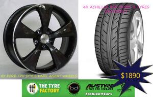 19-034-Ford-FPV-STLYE-Dark-Argent-Wheels-amp-Tyres-Falcon-XR6-XR8-AU-BA-BF-FGX-Turbo