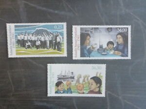 2016-GREENLAND-DURING-WWII-SET-3-MINT-STAMPS-MNH