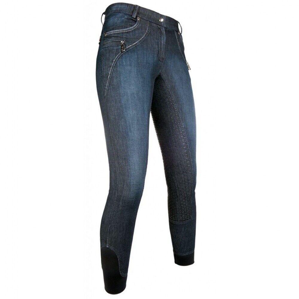 Señora reithose silicona ribete de pleno LIMONI Denim Lauria garrelli jeans azul-nuevo