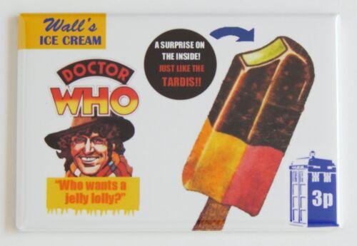 Doctor Who Ice Cream FRIDGE MAGNET sign popsicle