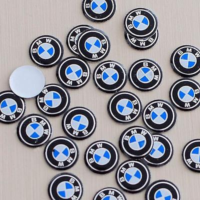 2x BMW PEGATINA PARA MANDO EMBLEMA ADHESIVO LOGO LLAVE 11mm. (2 unidades)