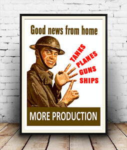 Good-news-from-home-Vintage-WW2-public-information-Poster-reproduction