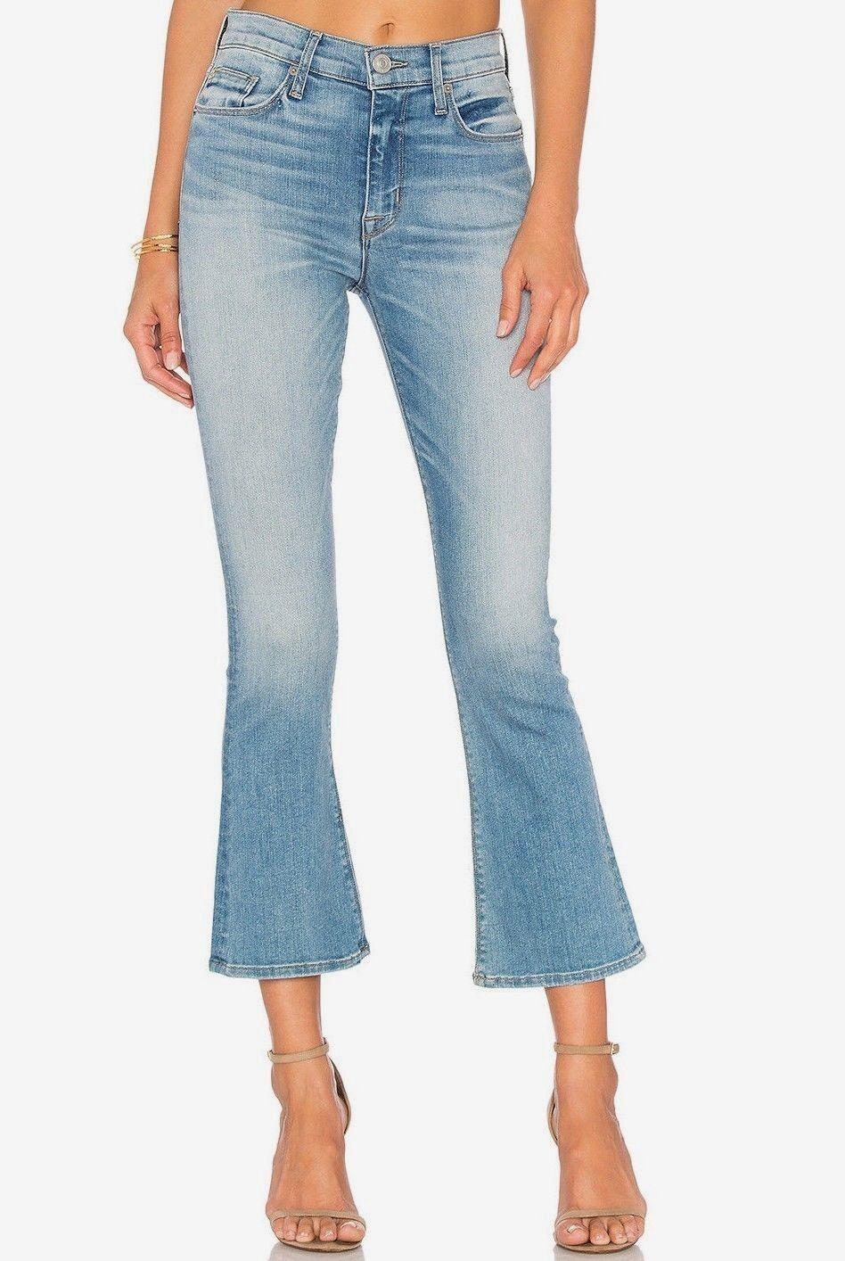 Nwt Hudson Sz28 Brix Ausschnitt Hoher Stiefelcut Stretch Jeans Wucht Blaue Wäsche