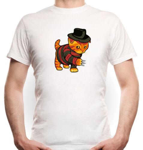 film movie, Evil Cat T-Shirt Boys  Whitefreddy krüger