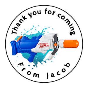 Personalised-Water-Gun-Splash-Party-Stickers-Birthday-Sweet-Cones-Cake-Boxes