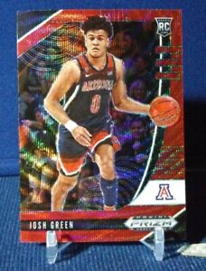 2020-21 Prizm Draft Picks Josh Green RC Red Wave Prizm #61 Rookie Mavericks