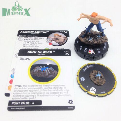 #036 Rare figure w//card! w//Spider-Slayer Heroclix Earth X set Alistair Smythe