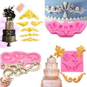 Cake Molds Antique Flower Silicone Fondant Mold Cake Border Decor Sugar Icing Paste Mould Home & Garden