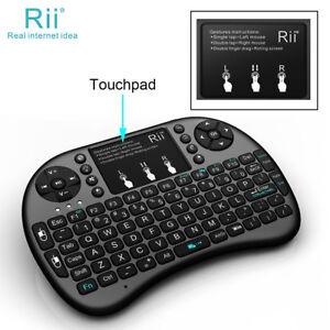 c99aa249cfa Rii i8+ Backlight 2.4G Wireless Mini Keyboard for Smart TV Android ...