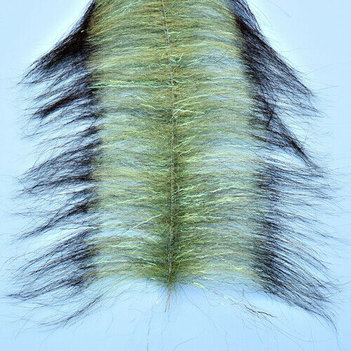 Enrico Puglisi 4.5 inch Invader Brush OLIVE Fly Tying materials BWCflies