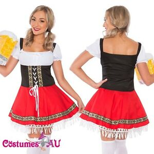 Ladies-Beer-Maid-Costume-Red-German-Heidi-Oktoberfest-Octoberfest-Fancy-Dress