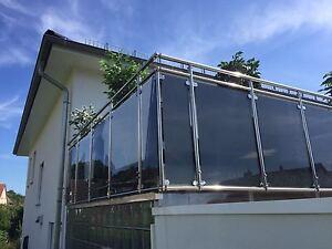 Balkongeländer Edelstahl VSG Glas Balkon Geländer | eBay