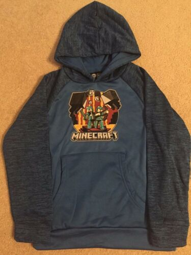 MINECRAFT Story MODE Video Game XBOX ONE 360 Steve BOYS Youth HOODIE Sweat Shirt