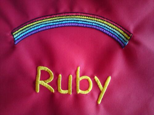 Personalised  Rainbow School//PE//Nursery//Drawstring Bag
