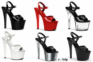 828dd1c6a05 Pleaser Shoes Sky-309 Sandals Stiletto High Heels Platform Strappy ...