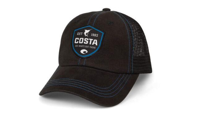 ... spain costa del mar mesh shield adjustable cap hat black ad731 19474 8ecd3f7814c3