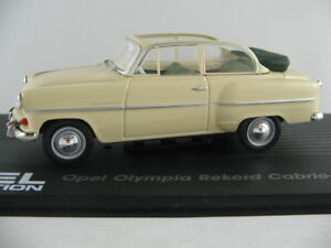 Ixo-05-Opel-Olympia-record-convertible-sedan-1954-en-beige-1-43-nuevo-PC-vitrina