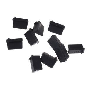 10pcs Black Rubber A Type Female USB Anti Dust Protector Plugs Stopper CoverC!C