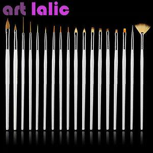 15-UV-GEL-amp-Acrylic-Nail-Art-Design-Dotting-Painting-Pen-Polish-Brush-Set-WHITE