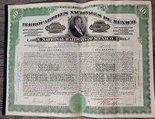 Mexico Mexican 1929 Ferrocarriles Nacionales Railways 10 Shares UNC Loan Bond