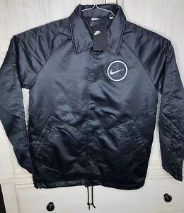 393f52eee053 Nike Mens Air Force 1 AF1 Varsity Jacket Black White AH8515-010 Size ...