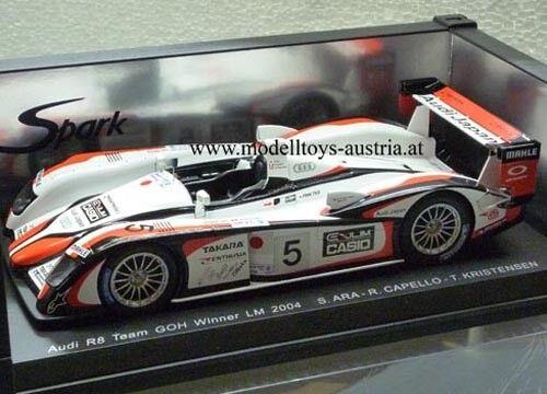 garanzia di qualità Audi R8 2004 Le uomos Sieger KRISTENSEN KRISTENSEN KRISTENSEN   ARA   CAPELLO 1 18 Spark  all'ingrosso a buon mercato