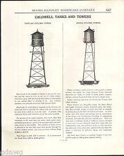1943 ADVERT Caldwell Water Farm Tank Tower Tubular Angle