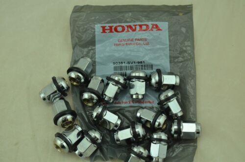 90381-SV1-981 NEW Genuine Honda OEM Set of 16 Wheel Lug Nuts with Retainer