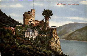 Trechtingshausen-AK-Burg-Rheinstein-ungebraucht-um-1910-alte-Postkarte