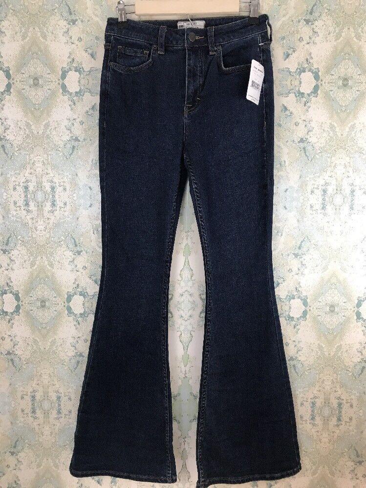NWT Free People High Rise Mallison bluee Flare Denim Jeans 26