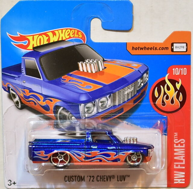 Hot Wheels 2017 Hw Llamas a Medida '72 Chevy Luv # 10/10 Blue Corta Tarjeta