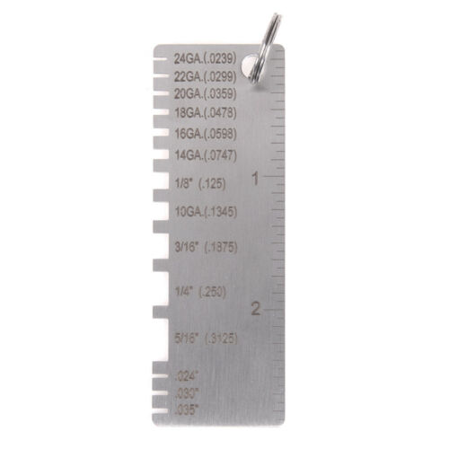 Wire Gauge Thickness Measuring Tool Wire//Sheet Metal Gage Measurement.NIUS