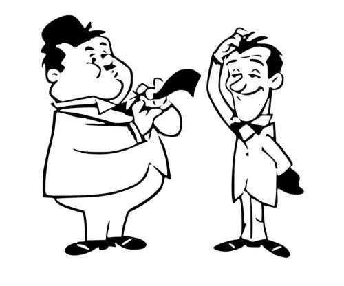 Laurel /& Hardy Vinyle Voiture Décalque//Autocollant