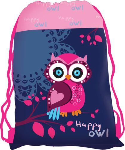 Kindergarten Schlafbeutel Schuhbeutel Sportbeutel Turnbeutel Eule Happy Owl