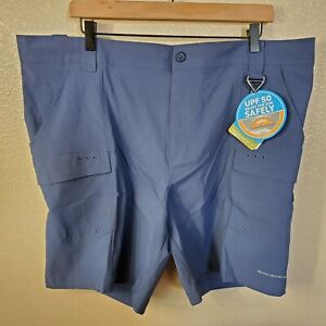 NWT-Columbia-PFG-Men-039-s-Low-Drag-Size-XL-8-Inseam-Dark-Mountain-Shorts