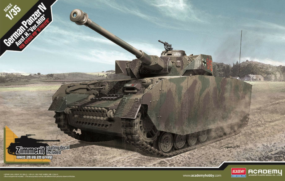 1 35 Academy Panzer IV Ausf.H mid-production - New Tool