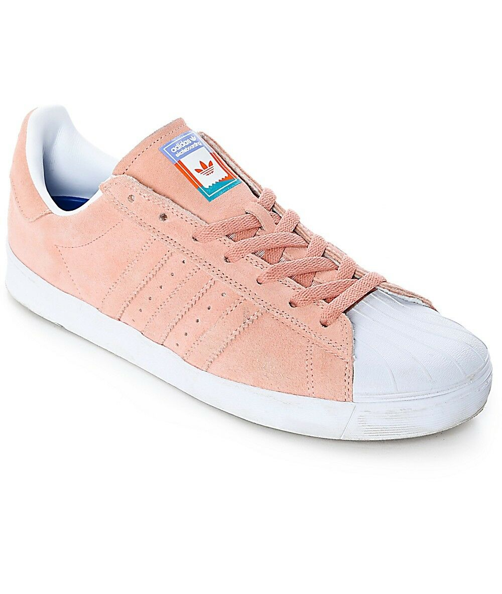 Adidas Superstar Vulc Adv Skate CG4839  Men's 9.5 Women's 11 Pastel Pink Price reduction Wild casual shoes