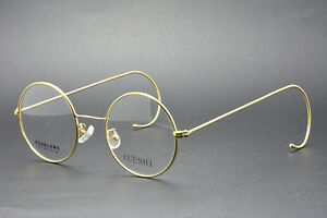 669493a7225 44mm Round gold wire rim Eyeglass frames Eyewear Vintage glasses RX ...