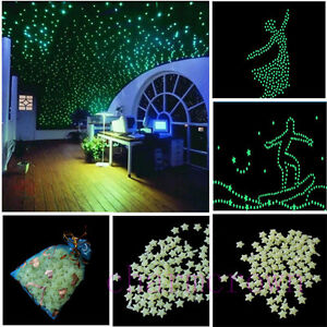 200pcs-3D-Stars-Moon-Glow-In-The-Dark-Bedroom-Home-Wall-Bedroom-Decoration-A